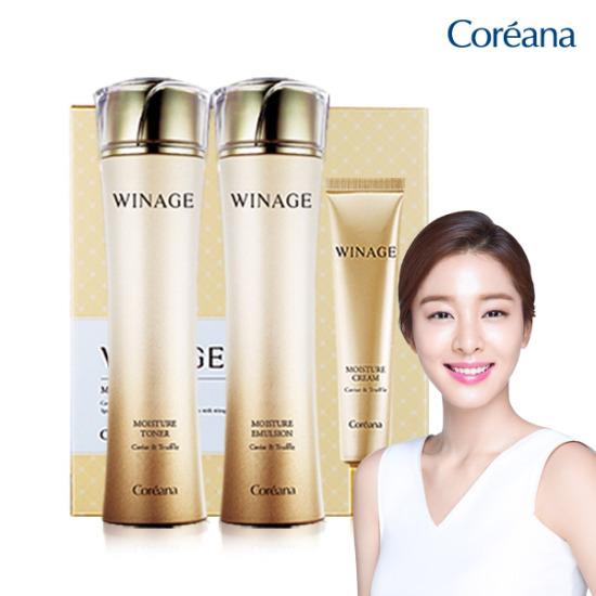 Coreana WINE MOISTURE 3件套