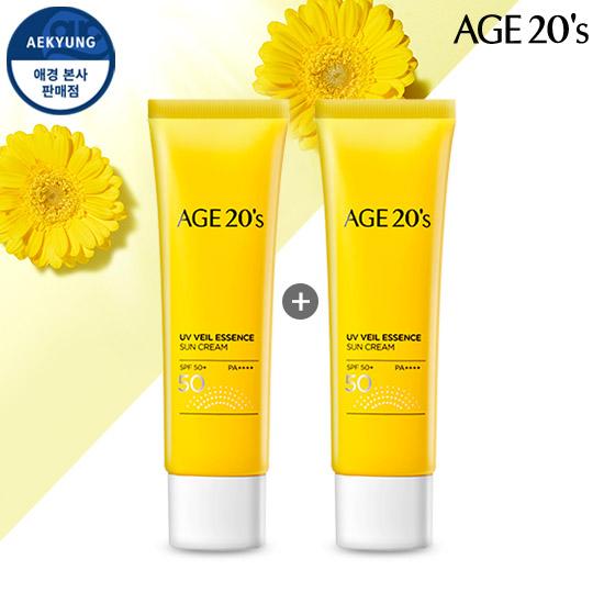 (1 + 1)AGE TO WENIS UV Veil精华防晒霜SPF50 + / PA ++++